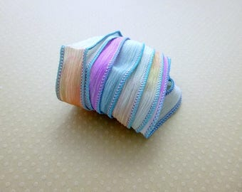 Ribbon color No. 807 hand dyed silk
