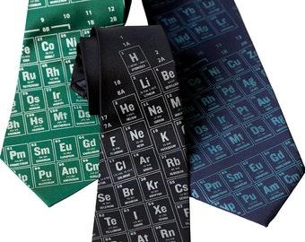 Periodic Table Necktie. Scientific Print Tie. Science teacher gift, chemistry teacher gift.