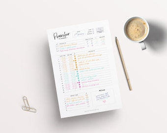Planner Pages Etsy - Productivity planner review