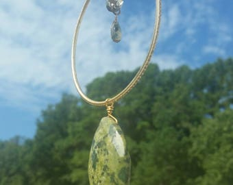 14k gold/mixed metal/real stone/glass sun catcher