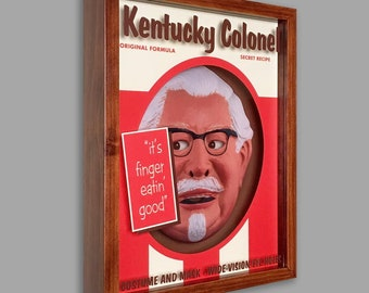 Kentucky Colonel Shadowbox Art