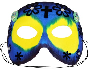 Mateo Hand Painted Day of the Dead Mask   A-2457-E