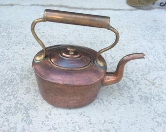 Antique COPPER Hollow Handle English Tea Kettle