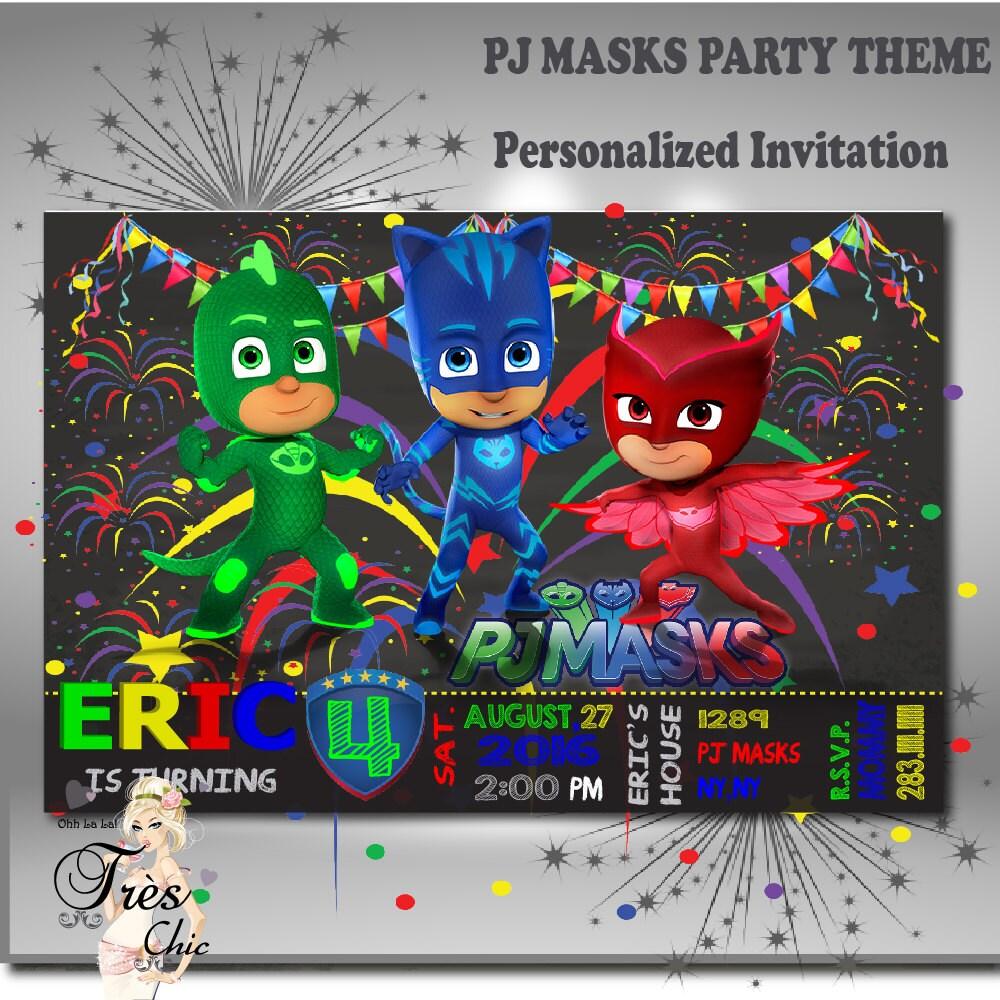 PJ Masks InvitationsPj Masks Party Invitations Pj Masks