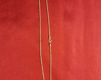 10 kt Rope Necklace 18 inches long