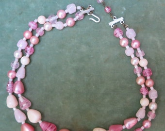 A Pretty Pink Vintage Necklace