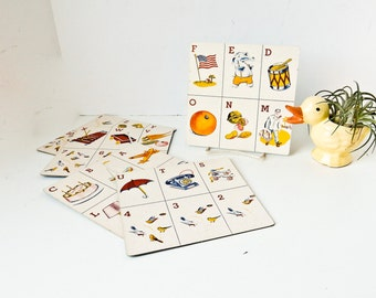 Kid's Baby Room Decor, Flash Cards, 123 cards,  ABC cards, Alphabet Cards,  Learning Tools, Children's Teaching Cards
