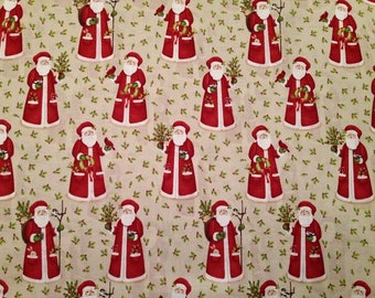 Father Christmas Cotton Fabric by the yard