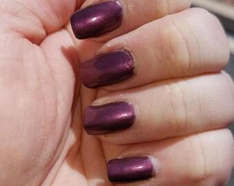 Plum Pudding Nail Polish- Purple Nail Lacquer - Plum Nail Polish