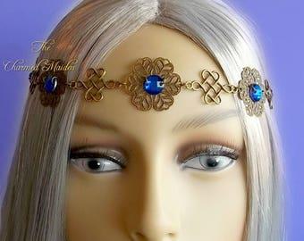 Bronze Medieval Crown, Renaissance Circlet, Celtic Headdress, Regency Headpiece, Victorian Flower Crown, Diadem, Bridal Crown, Cosplay, Larp