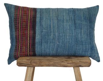 Authentic Vintage Indigo and Hmong Stripe