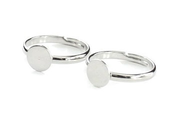 6pcs--Finger Ring, Expandable, Nickel Color (B64-7)