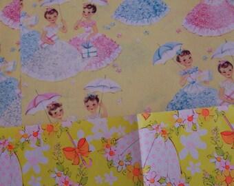 bridal shower vintage gift wrap