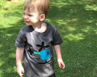 Applique Helicopter T shirt