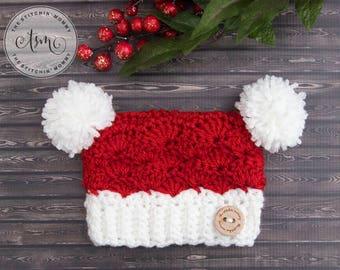 PDF Crochet Pattern - Little Santa Sack Hat Sizes Preemie to Adult Large