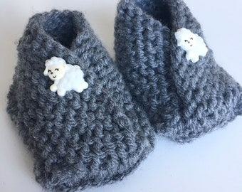 Handmade Knit Booties