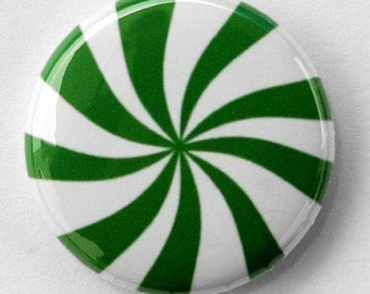 Wintergreen Mint - Pinback Button Badge 1 inch