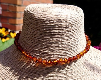 Amber necklace for baby.