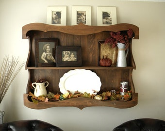 Hutch, Display Cabinet, China Hutch, Large Wall Art, Rustic Hutch, Kitchen Hutch, Display Shelf, Shelving Unit, Wall Shelf, Bookcase