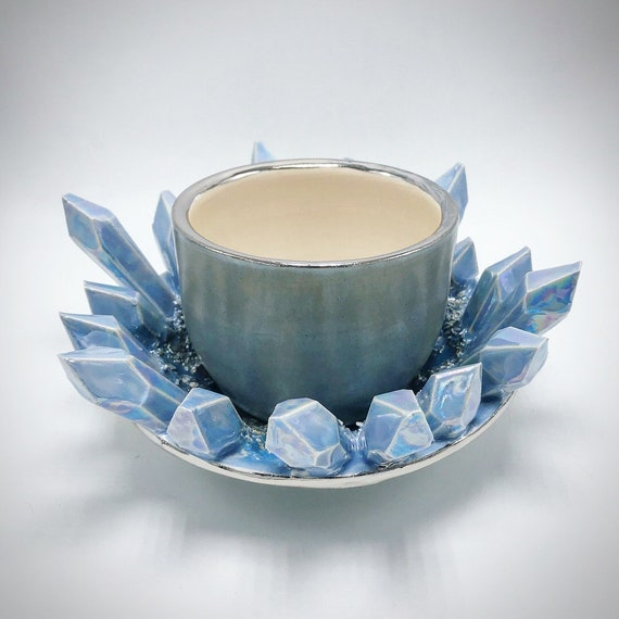 Crystal Cup and Saucer