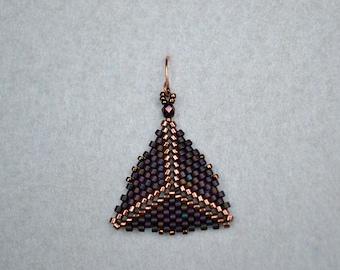 Burgundy & Copper Triangles
