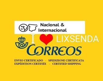 Additional shipping cost by CORREOS CERTIFICADO. Coste de Envio Certificado