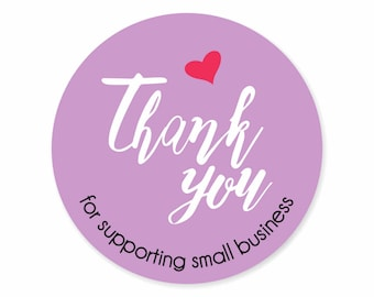 Thank You Small Business Labels Stickers Shop Labels Packaging Labels