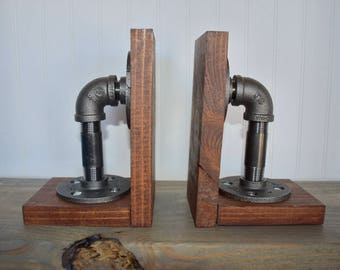 Industrial Pipe Book Ends
