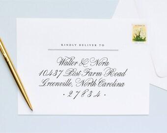 Guest + Return Address Printing | Folk Script