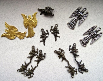 SALE!  Destash of Angel and Cupid Charms and Stampings