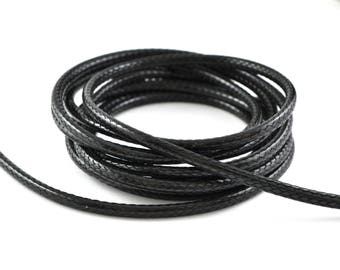 Polyester 3mm black waxed cord