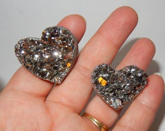 Aura Quartz Cluster Heart