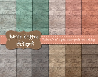 Wood paper, wood background, woodland theme, pastel colors, neutral color, distressed wood, premade pages, digital scrapbook paper