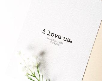 I Love Us Print, Couples Print, Wedding Print, Anniversary Print, Anniversary Gift, Prints, Typography, Home Decor, Wall Decor, Wall Art