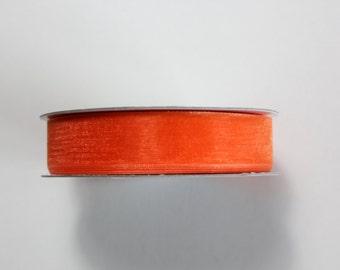 "5/8"" Organza Ribbon - Orange - 25 or 50 yard Spool"