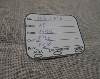 Cashel Linen - 28 ct. 'Flax' in various sizes from Zweigart