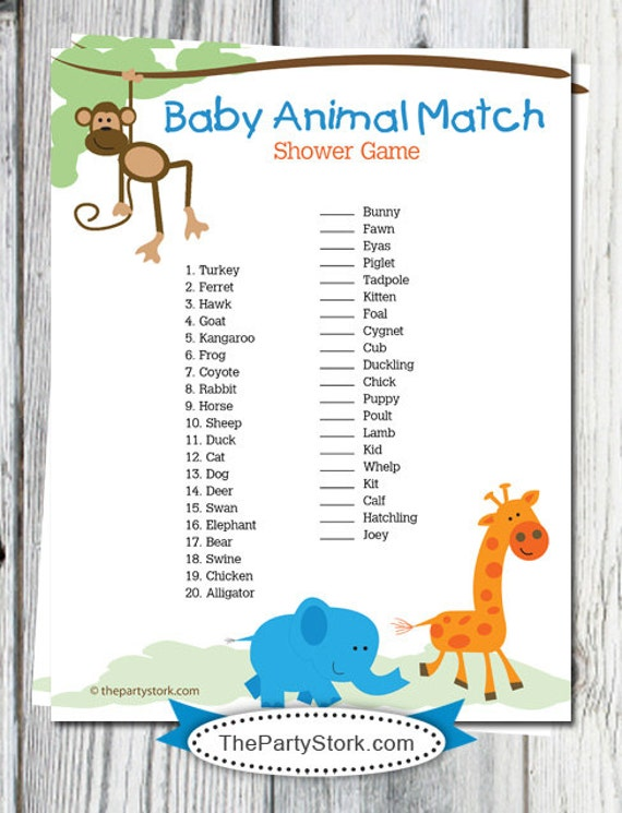 Refreshing image intended for baby animal matching game printable