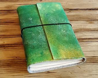 Art-Journal eine kreativen Ausdruck Kunst Zeitschrift - Geschenk für Fernweh Künstler - von Hand bemalt - tremundo