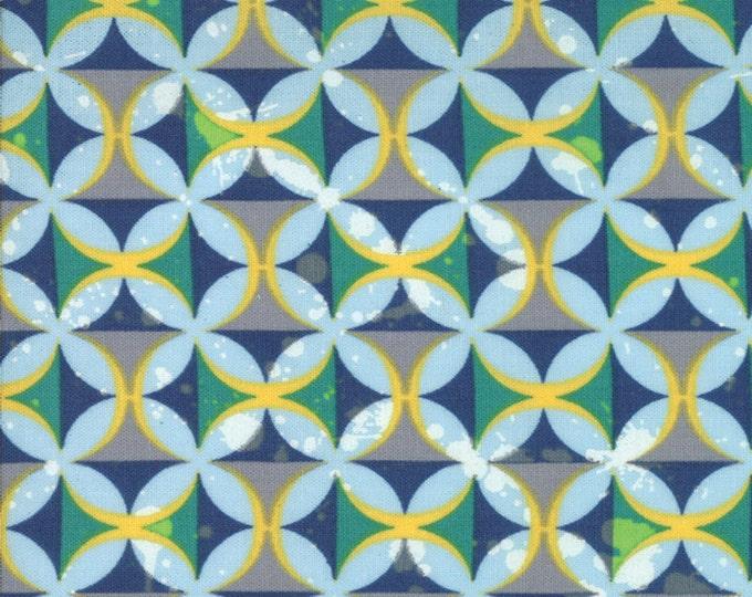 SALE!! Fat Quarter Barcelona - Spanish Tiles in Sky Blue Multi - Green Geometric Cotton Quilt Fabric - Zen Chic for Moda Fabrics  (W587)