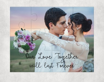 Custom Wedding Photo Puzzle Picture Puzzle Wedding Gift, Anniversary Gift, Father's Day Gift, Christmas Gift Create Your Own