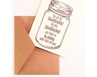 You Are My Sunshine Card Set of 5