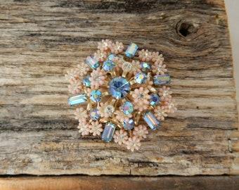 Triad Pretty Little Pink Flower Brooch