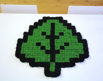 Super Mario Leaf 8-bit Crochet Blanket