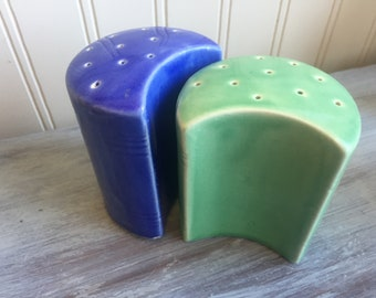 Vintage Half Moon S&P Shakers, Fiestaware inspired