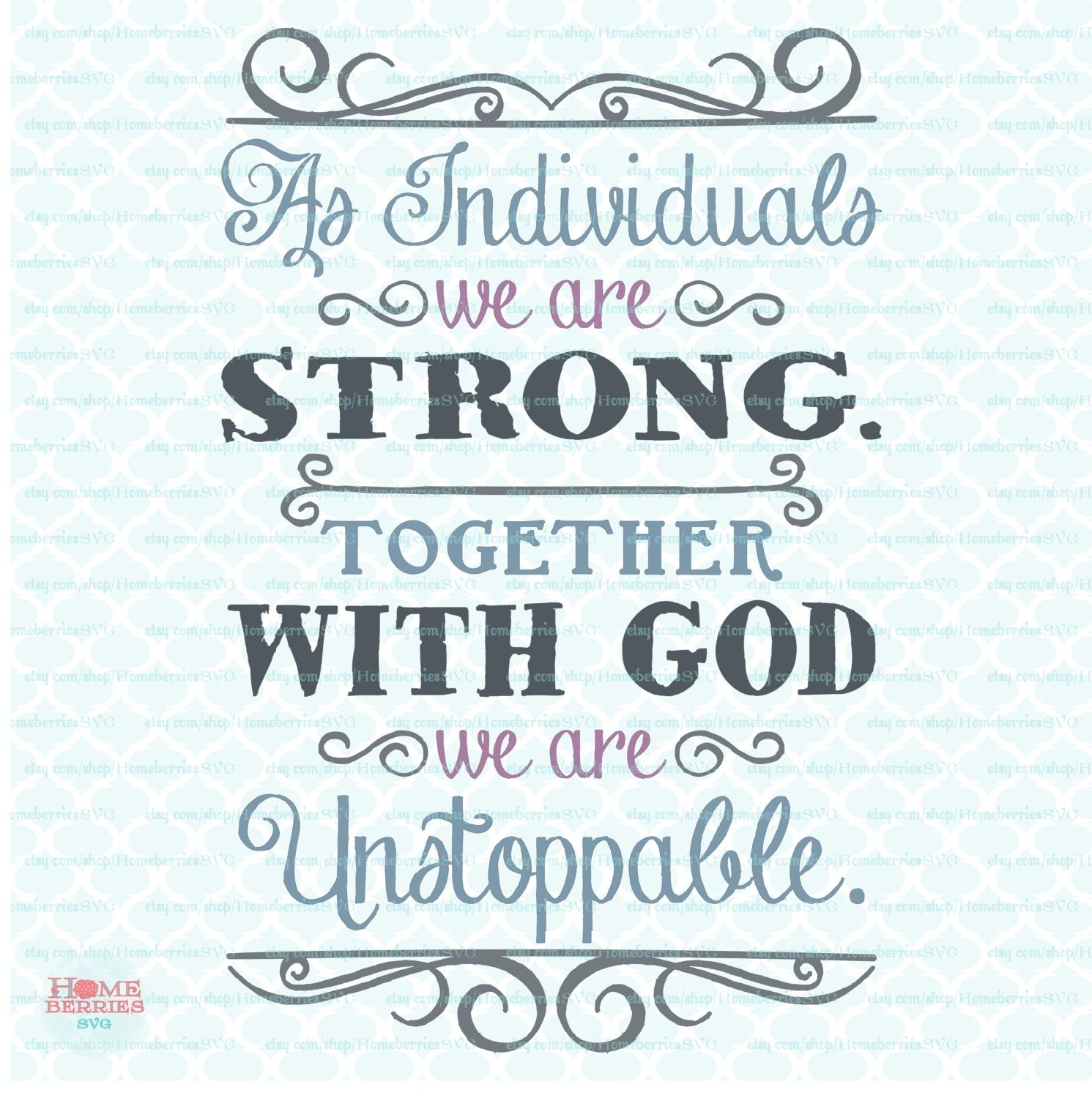 Free Christian Quotes: Unstoppable With God Quote Svg Religious Quote Svg Christian