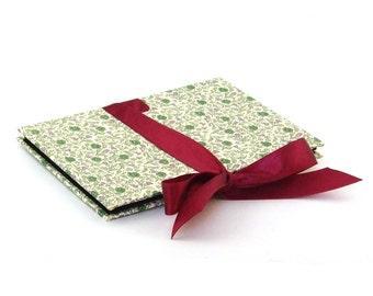 small Photo Album English Rose green burgundy Accordion Book
