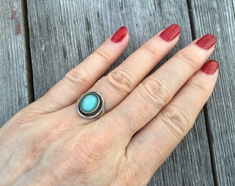 Blue glass ring - 206