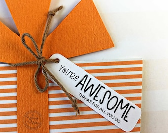 Teacher easter gift etsy kits youre awesome gift card holder employee recognition teacher appreciation corporate gifts co workers gifts nurse appreciation negle Image collections