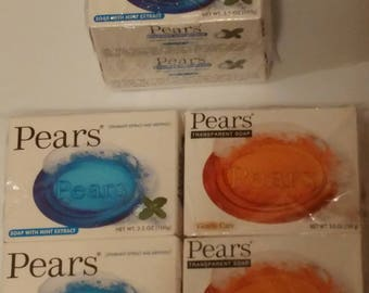 Pears Natural Glycerin Bar Soaps 4ct.
