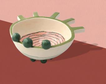 P' little Bowl - unique ceramic piece
